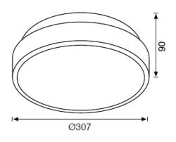 JC708 B E27 DUYLU TAVAN LAMBASI IP65 - Thumbnail