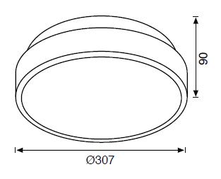 JC708 B E27 DUYLU TAVAN LAMBASI IP65