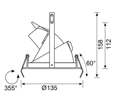 JD526 S 3 INCH DIRSEK METAL HALIDE SPOT 60°