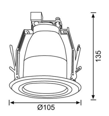 JD527 2 inch Camlı Downlight