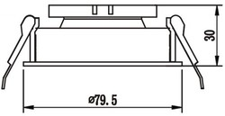 JH718 B&S Hareketli Spot - Thumbnail