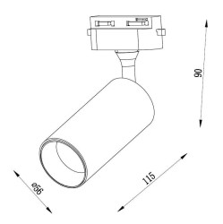 JR658 Monofaze Soketli Ray Spot - Thumbnail