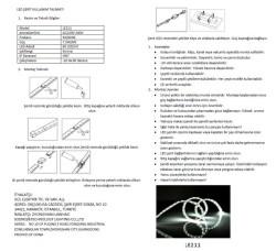 LE211 2835 SMD ÇİPLİ ŞERİT LED IP65 (3000K) - Thumbnail
