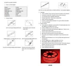 LE220 220 V İç/Dış Mekan Neon Şerit LED (KIRMIZI) - Thumbnail